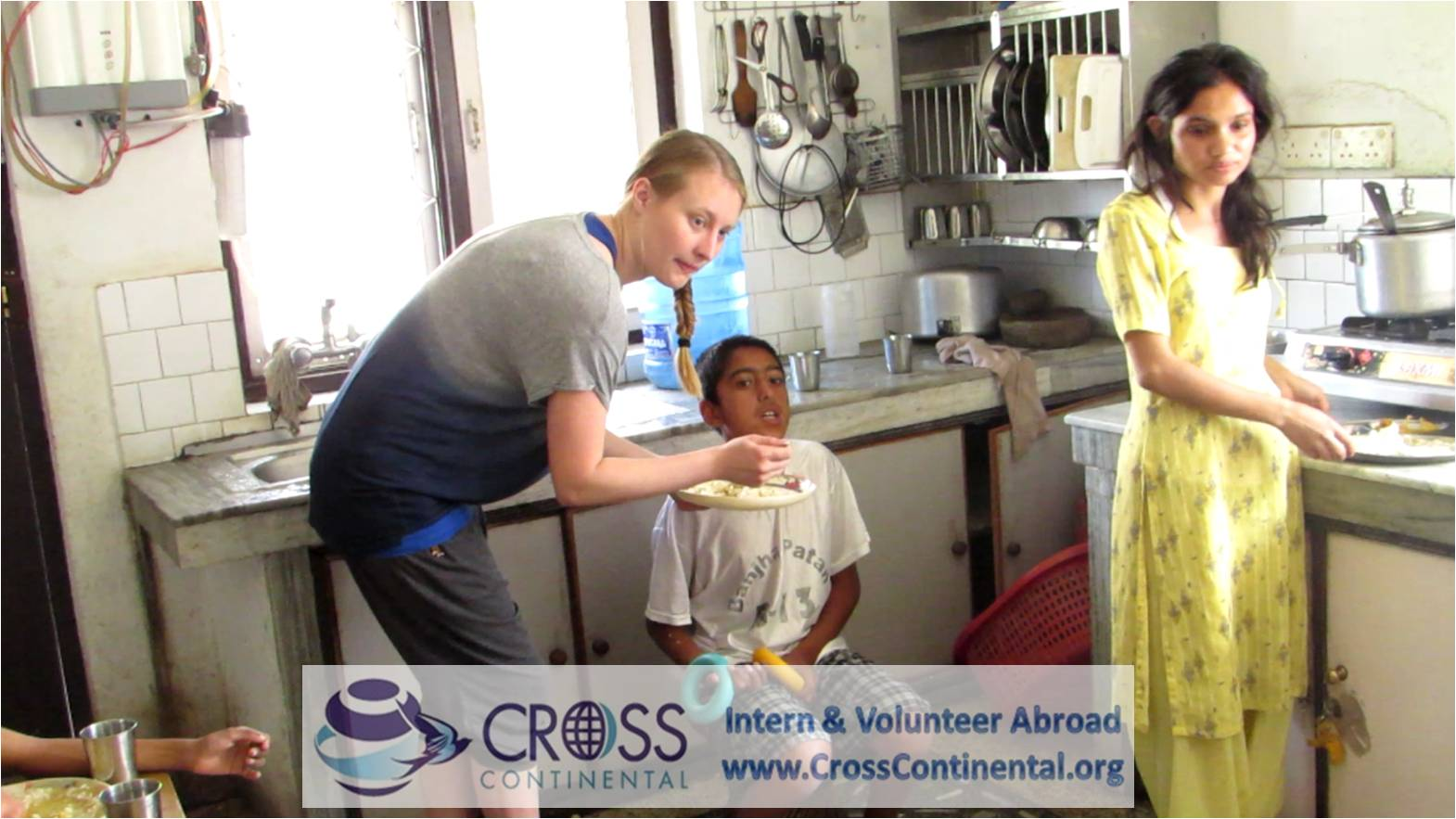 caring for disabled children in Nepal (international volunteer from Denmark (Europe)