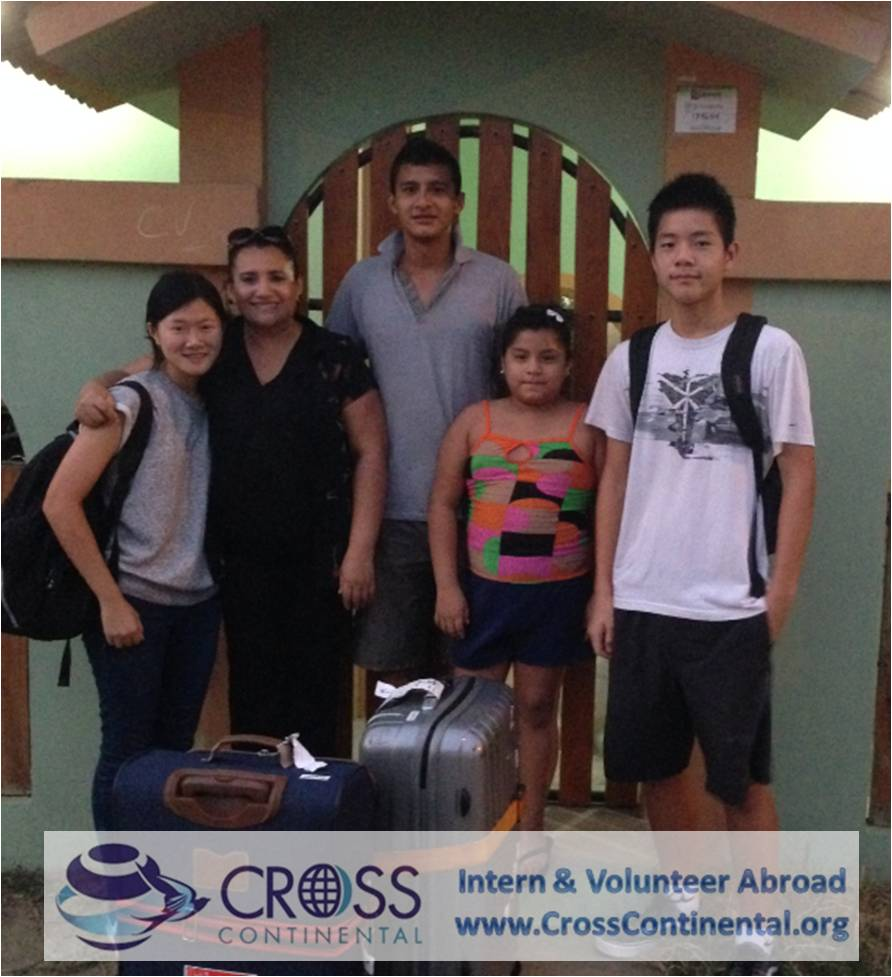 Volunteers Abroad with Local Host Families